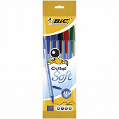 Bic stylo bille cristal soft assortis x5