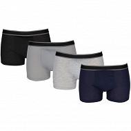 Lot de 4 boxers NOIR/GRIS/GRIS/MARINE T6