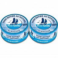 Petit Navire thon naturel démarche responsable 140gx2