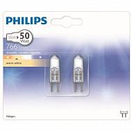 Philips 2 ampoules halogènes capsules GY6.35 - 35 W équivalent 50 watts variateur blanc chaud