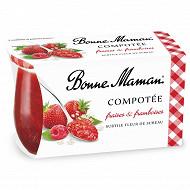 Bonne Maman compotée fraise framboise sureau 2x130g
