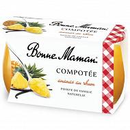 Bonne Maman compotée ananas rhum vanille 2x130g