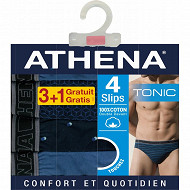 Lot de 3 slips +1 offert Athéna 1921 BLEU/BLEU/BLEU T5