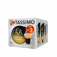 Tassimo l'or cafe dosettes cafe long classique 3x16 312g