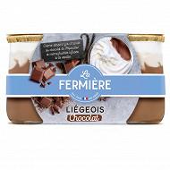 Liégeois au chocolat La Fermière 2x130g