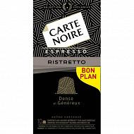 Carte Noire capsules ristretto type nespresso x10 53g