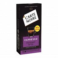 Carte Noire capsules espresso puissance n°11 type nespresso x10 53g