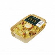 Gratin de pommes de terre et poireaux au chèvre et lardons 300g