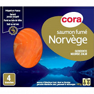 Cora saumon fumé Norvège 4 tranches 140g