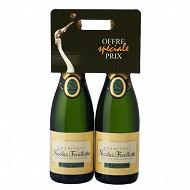 Champagne nicolas Feuillatte demi sec 2 x75cl 12%vol