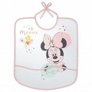 Disney baby bavoir 1er âge imprimé Minnie floral 28x32cm eva