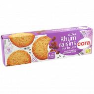 Cora galette rhum raisin pur beurre 120g