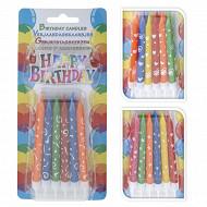 Lot de 12 bougies d'anniversaire