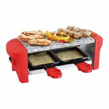 Livoo Appareil à raclette rouge 2 personnes DOC156R