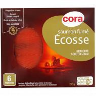 Cora saumon fumé Ecosse 6 tranches 210g