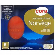 Cora saumon fumé Norvège 6 tranches 210g