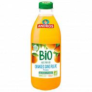 Andros jus orange sans pulpe bio pet 75cl