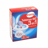 Cora tablettes wc 3 en 1