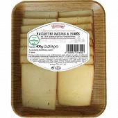 Raclette tranche 2x200g nature/fumé lait pasteurisé de vache