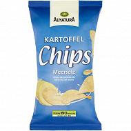 Alnatura chips de pomme de terre au sel marin 125g