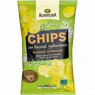 Alnatura chips cuites à la marmite romarin et sel marin 125g