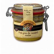 Aux 3 barons foie gras de canard entier origine France 180g