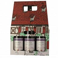 Coffret maisonnette vieilles vignes Alsace 3x75cl