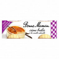 Bonne Maman crème brûlée 4x100g format gourmand