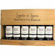 Caisse bois Bordeaux Rouge Médaillés 14% Vol.6x75cl