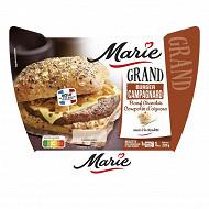 Marie grand burger campagnard boeuf charolais & compotée d'oignons 220g