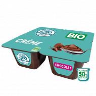 Les 300 & bio crème dessert chocolat 4x95g