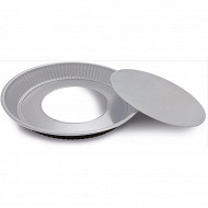 Moule à tarte fond amovible 30cm silver élégance