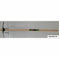 Cora serfouette panne et langue 26cm emmanchée conique 1.10m