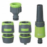 Ribiland kit lance arrosage + 2 raccords 15mm + nez de robinet