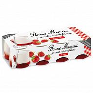 Bonne Maman yaourt à la confiture de fraises 8x125g format gourmand