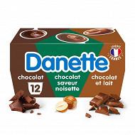 Danette trois chocolats 12x115g
