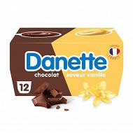 Danette saveur vanille chocolat 12x115g