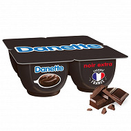 Danette extra noir 4x125g
