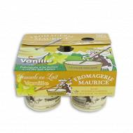 Semoule au lait vanille 4x125g