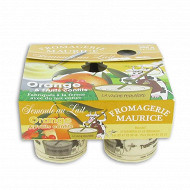 Semoule au lait orange et fruits confits 4x125g