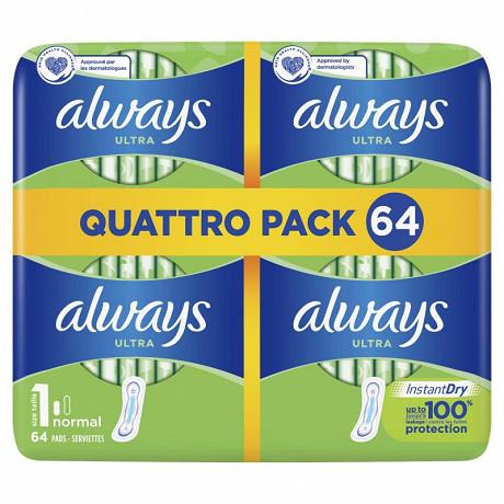 Always ultra serviettes normal x64