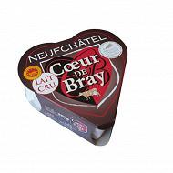 Coeur de bray neufchatel aop au lait cru 24%mg 200g