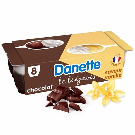 Danette le liégeois vanille chocolat 8x100g