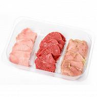 Preparation de viande pour pierre a griller