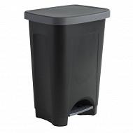 Poubelle 50 litres noire step bin