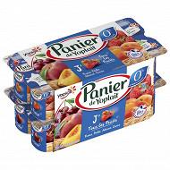 Panier de Yoplait 0% fruits panaché 16x130g