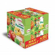 Cora kido gourdes compote pomme allégée en sucre  80 x 90g