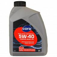 Cora huile moteur voiture synthèse 5W40 2 litres