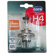 Cora blister 1 ampoule voiture H4 culot P43t 60/55W 12V