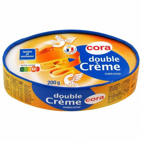 Cora double crème au lait pasteurisé 200 g